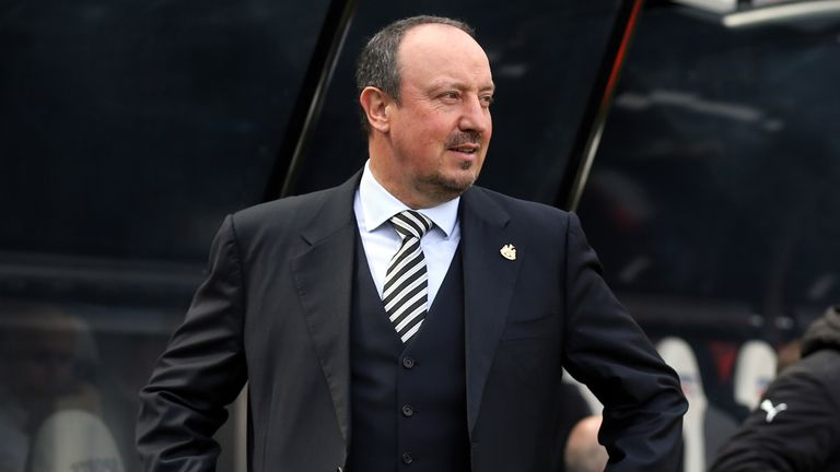 Rafael Benitez's name was sung all afternoon at St James' Park