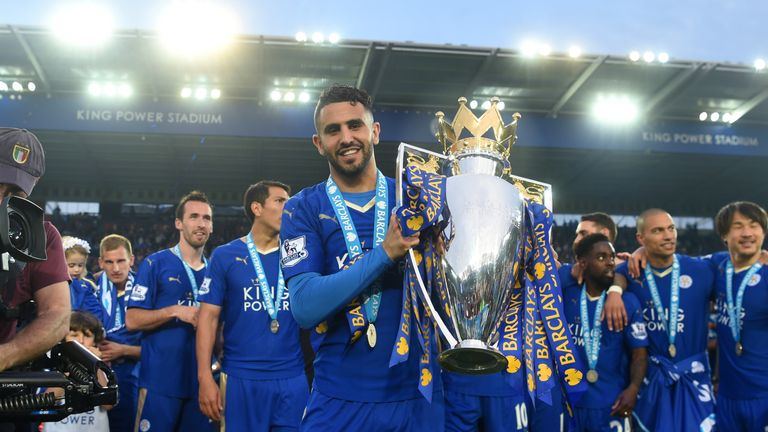 Riyad Mahrez won the PFA Players' Player of the Year award last season