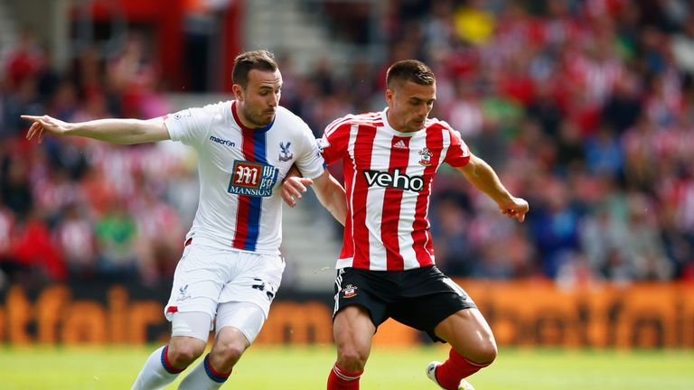 Southampton and Crystal Palace played out a tightly-contested first half
