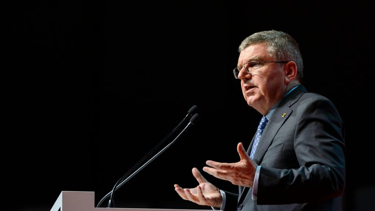 Thomas Bach says the IOC will not hesitate to enforce the toughest sanctions