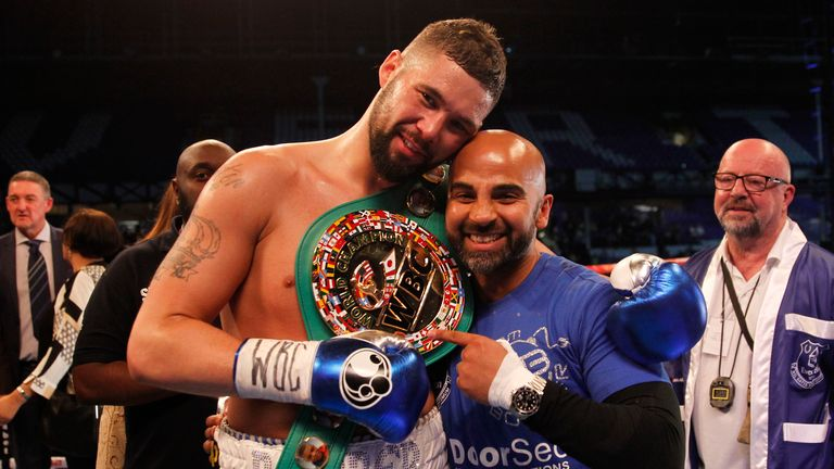 Tony Bellew won a cruiserweight world title at Everton's stadium