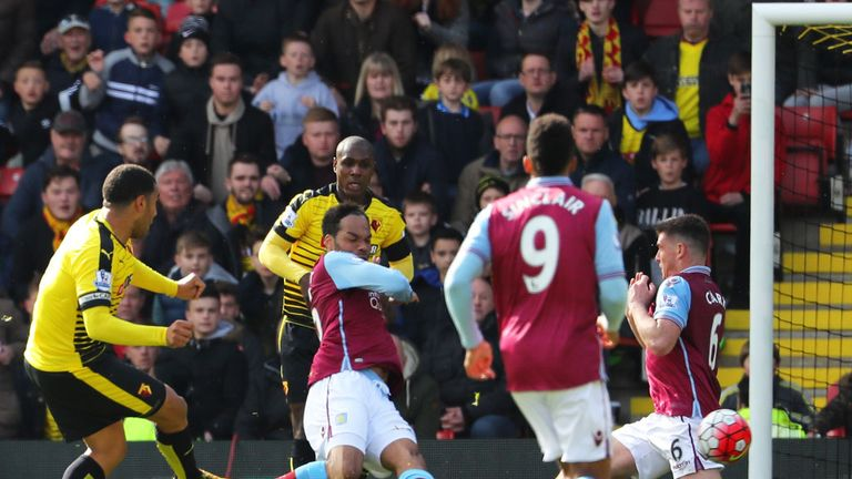 Villa went down to two late goals against Watford at Vicarage Road