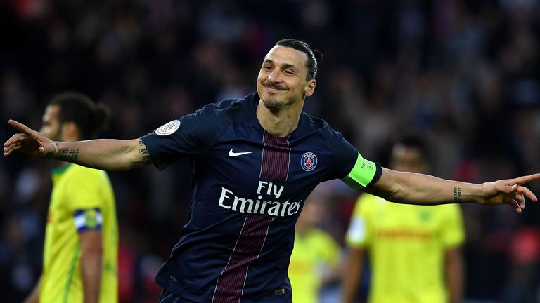 Ibrahimovic spent four seasons with PSG before joining Man Utd