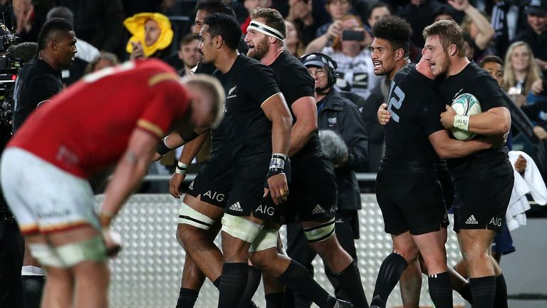 The All Blacks won the first Test 39-21 on Saturday