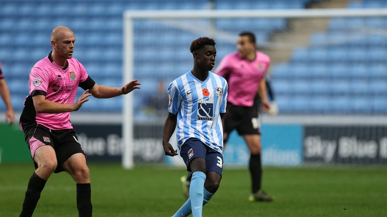 Bassala Sambou is leaving Coventry to join Everton