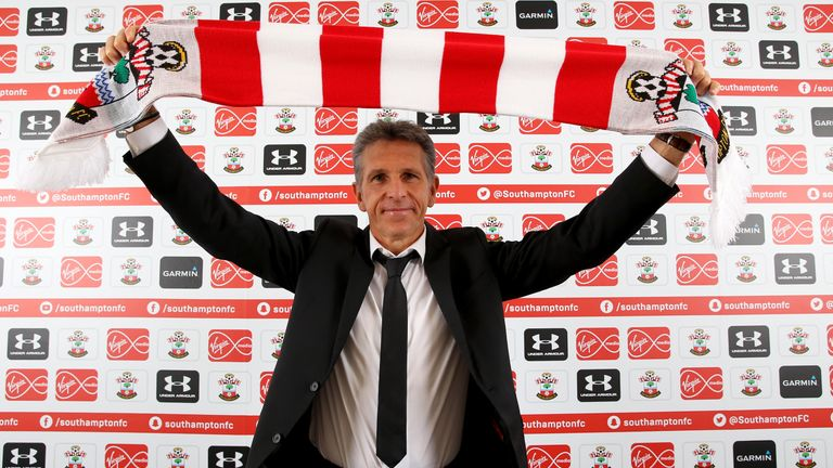 Claude Puel is presented as Southampton's new manager (picture courtesy of Southampton Football Club)