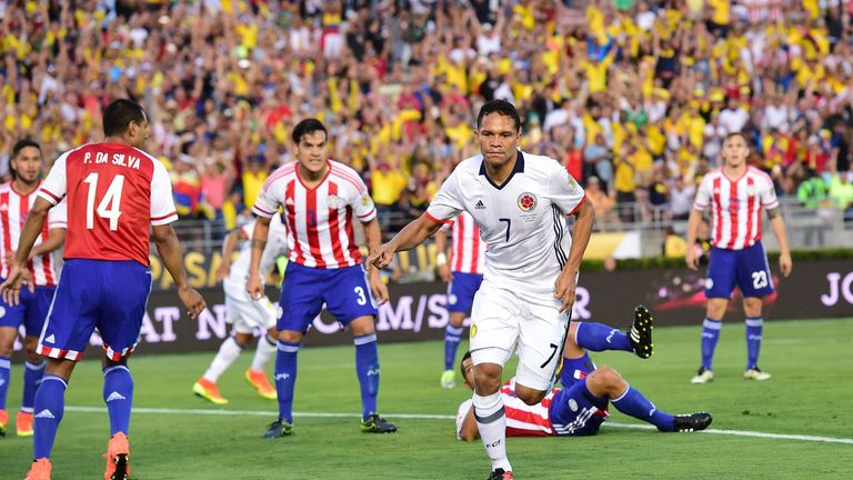 Bacca has scored 13 goals in 33 international appearances for Colombia