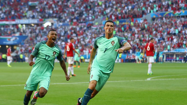 Ronaldo's second-half brace helped get Portugal into the last 16