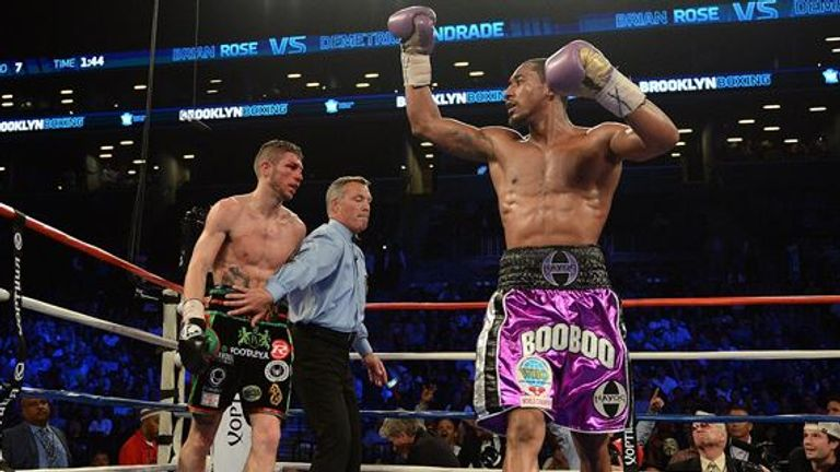 Demetrius Andrade recorded a classy stoppage of Brian Rose