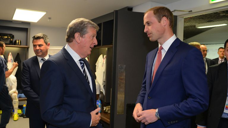 FA president, the Duke of Cambridge (R), has sent well-wishes to England ahead of Euro 2016