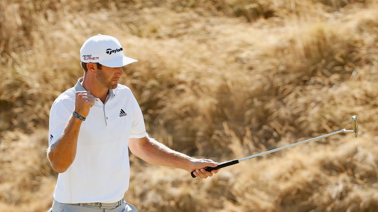 A birdie at 17 was DJ's only gain along the back nine