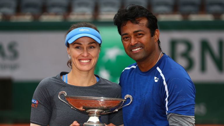 Hingis and Leander Paes lifted four Grand Slam titles together