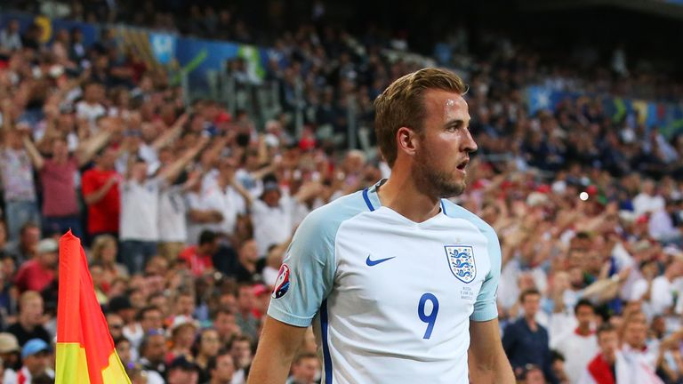 Kane took corners for England during the tournament