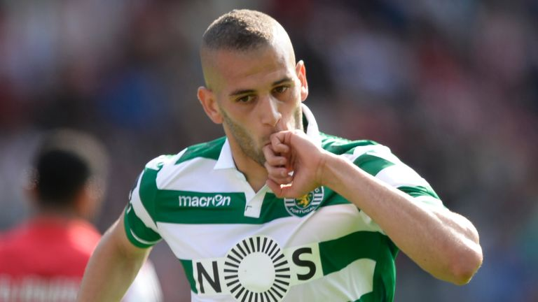 Sporting have rejected a bid from Leicester for Algeria forward Islam Slimani