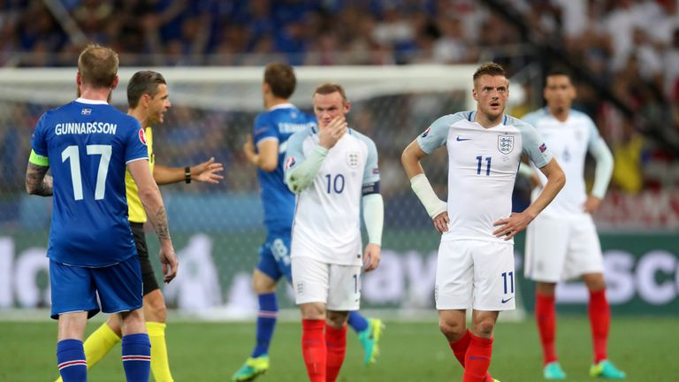 England slumped to a shock defeat by Iceland at Euro 2016
