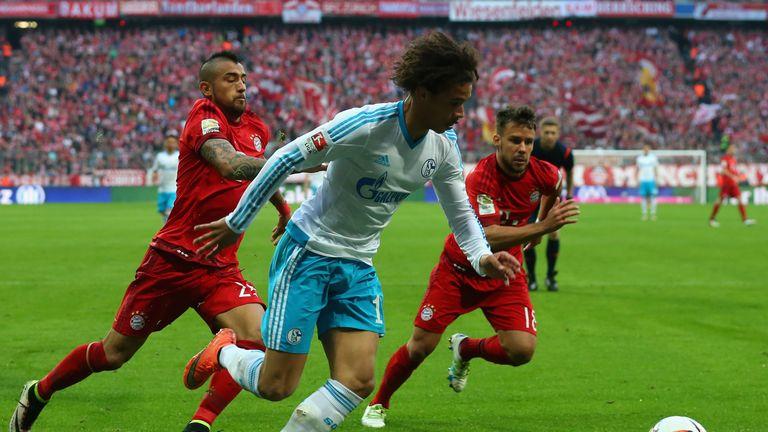 Sane in action for Schalke against Bayern Munich last season