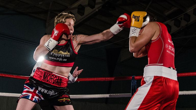 Kelly Morgan (left) is the mandatory challenger for the WBC title (pic: Point 5 Photography)