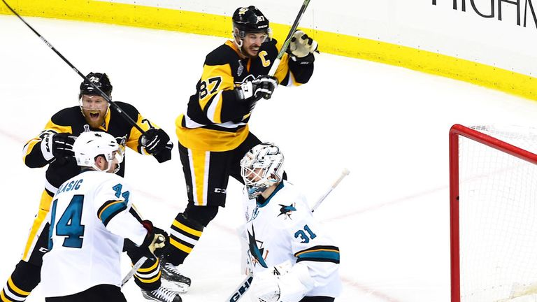 Pittsburgh secure their 2-1 overtime victory over San Jose