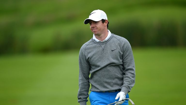 The Northern Irishman briefly moved to two under before slipping back down the leaderboard
