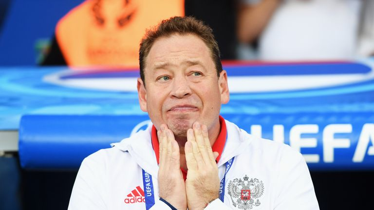 Leonid Slutsky has stepped down as Russia coach after the loss to Wales
