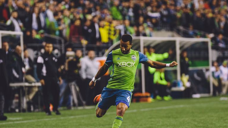 Mears in action for Seattle Sounders (Pic: Dan Poss, Sounders FC Communication)