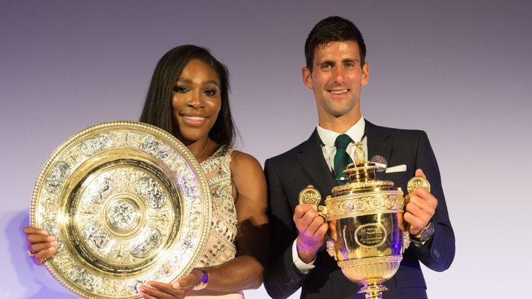 Serena Williams and Novak Djokovic top the Wimbledon seedings as they defend their titles