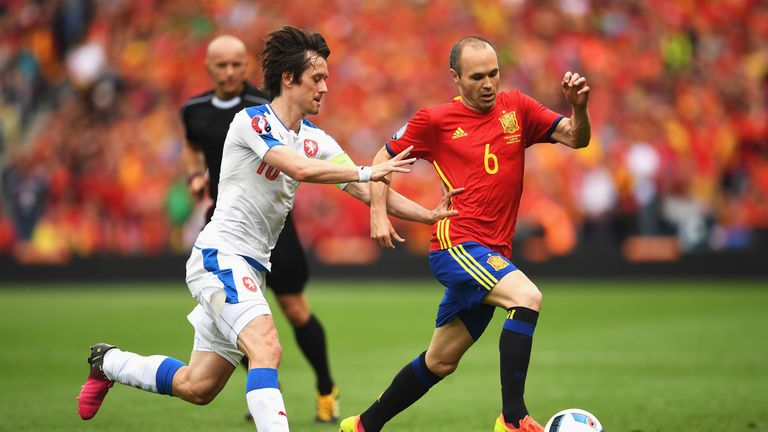Iniesta was the key man once again in Spain's win over Czech Republic