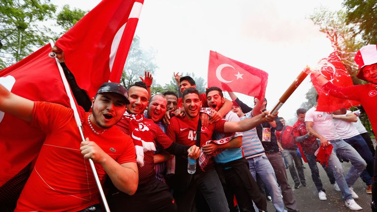 Turkey fans were in good spirits in Lens
