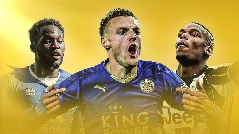 Romelu Lukaku, Jamie Vardy and Paul Pogba all linked with moves