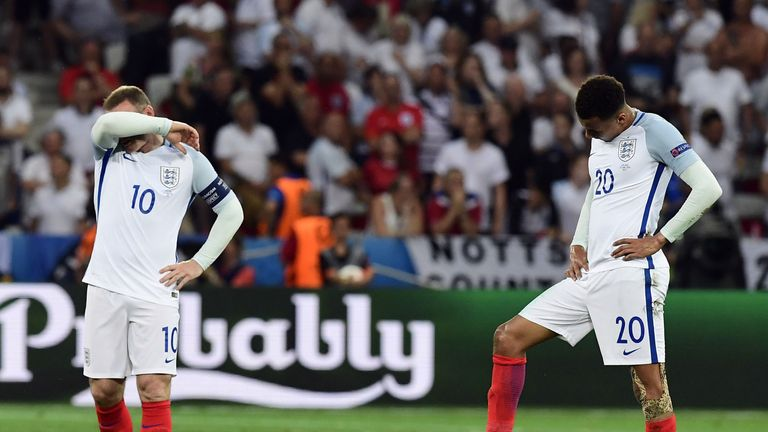 England suffered a shock defeat to Iceland in Nice on Monday