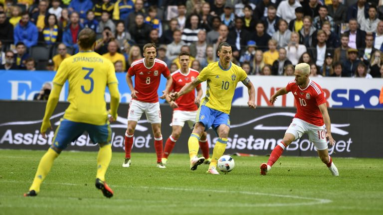 Zlatan Ibrahimovic started for Sweden in Stockholm