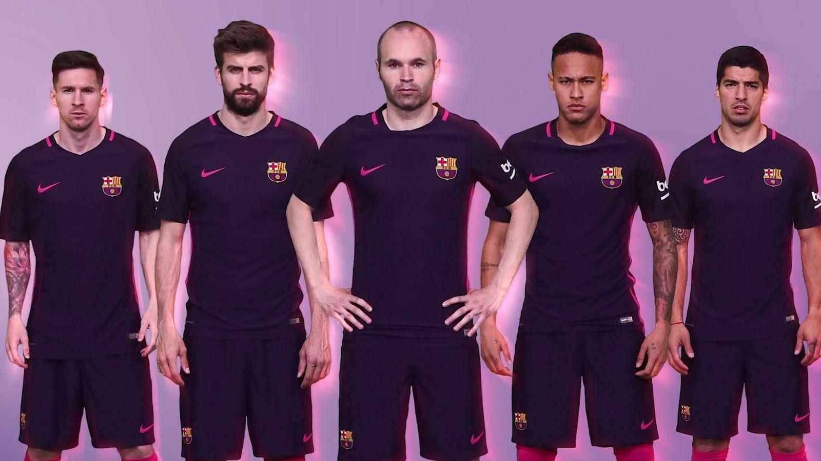 e68f50fb3 Barcelona unveil purple away kit for 2016 17 season