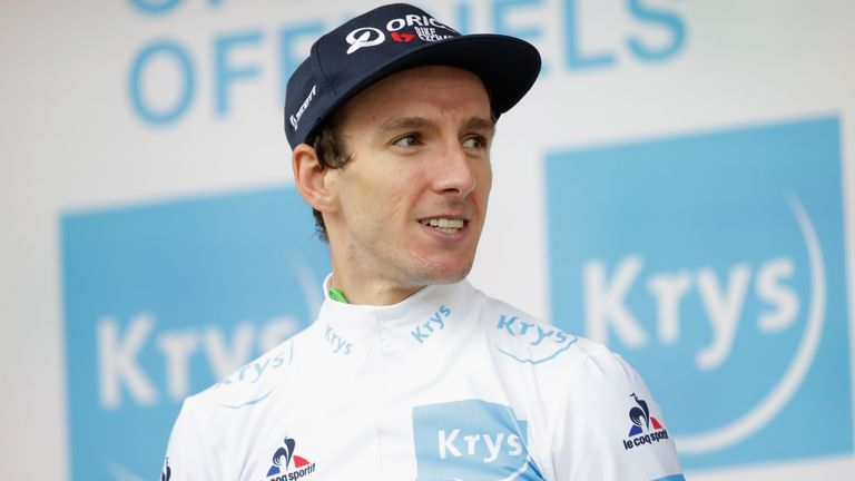 Yates won the best young rider's white jersey