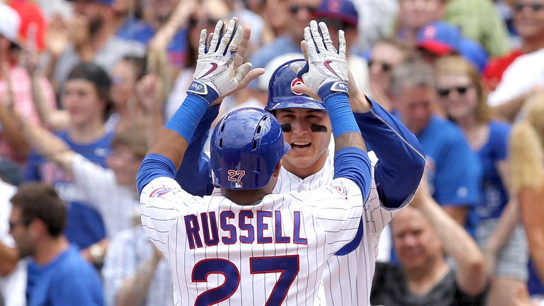 Cubs' duo Anthony Rizzo and Addison Russell have been named all-star game starters
