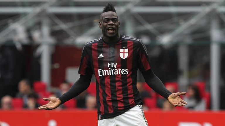 Balotelli spent a season on loan at AC Milan