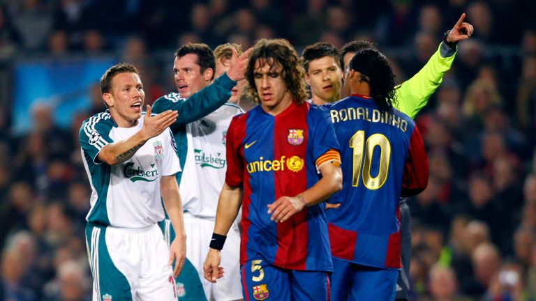 Liverpool beat Barcelona 2-1 at the Nou Camp in 2007