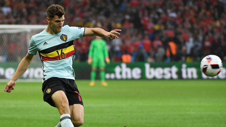 Thomas Meunier represented Belgium at Euro 2016