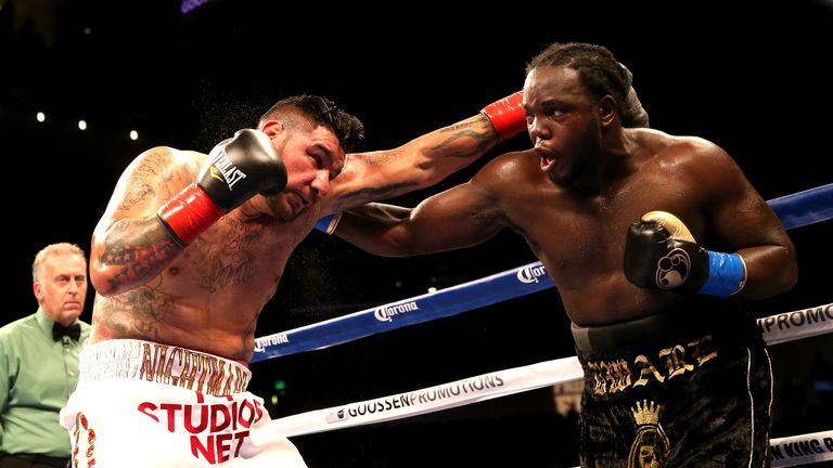 Stiverne (right) owns two wins over Wilder's next opponent Chris Arreola