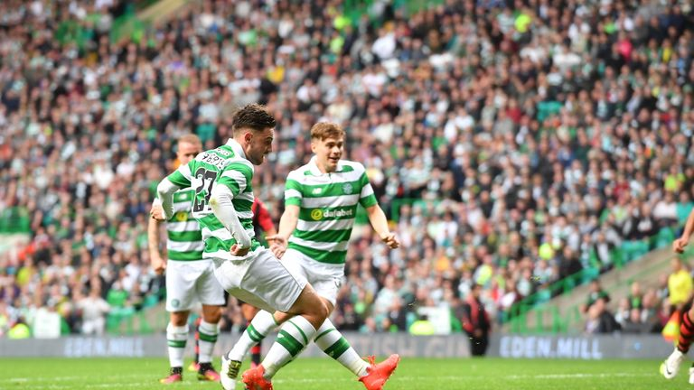 Patrick Roberts slotted in the third on 29 minutes after cutting in from the right