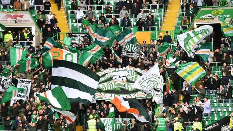 Celtic have a 2900-capacity safe standing area at Celtic Park in Glasgow