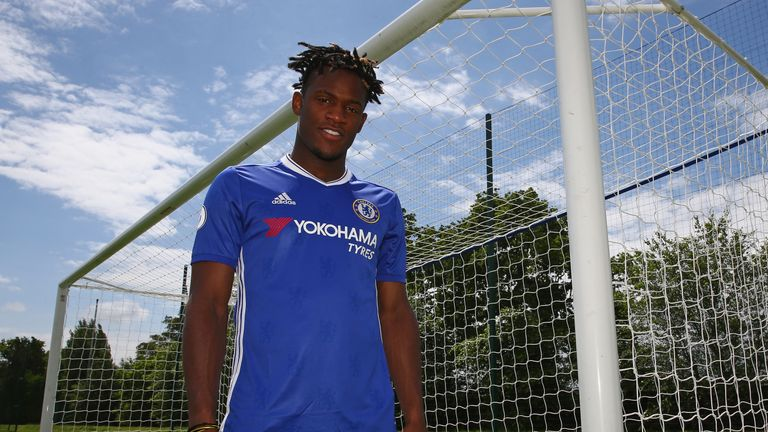 Michy Batshuayi was the first signing of the Antonio Conte era at Stamford Bridge