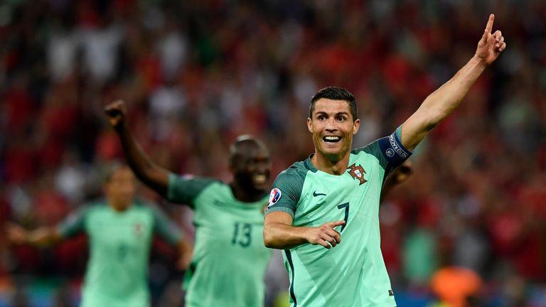 Ronaldo scored in the 2-0 semi-final win over Wales in Lyon
