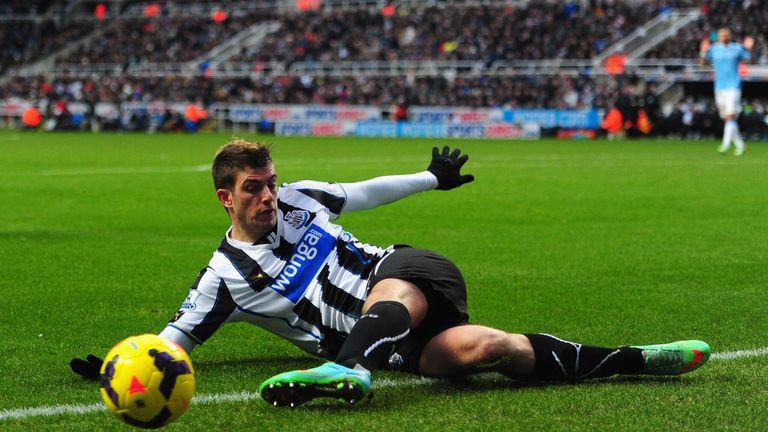 Santon made 94 appearances during three-and-a-half years at Newcastle
