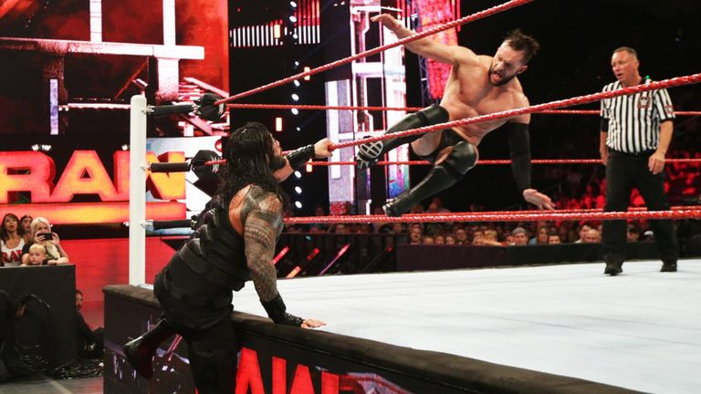 Balor and Reigns met in Raw's main event