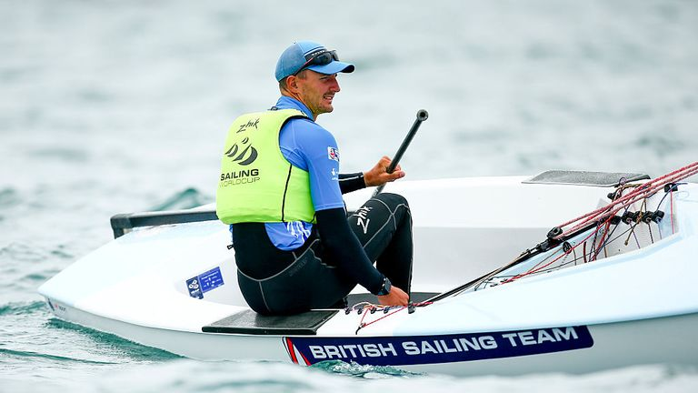Scott Giles in action during the Sailing World Cup