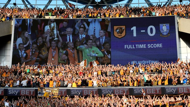 Hull will be in the Premier League this season after victory in the play-off final