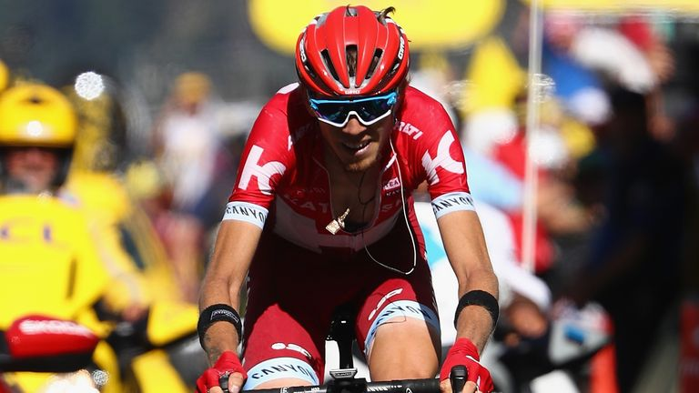 Ilnur Zakarin won the stage out of the breakaway