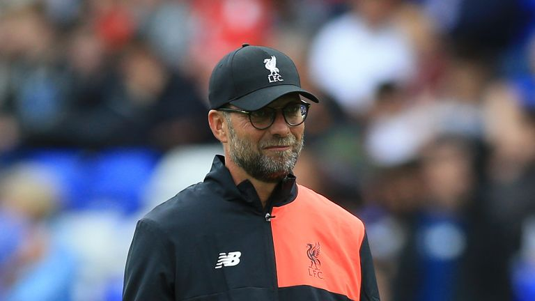 """Liverpool manager Jurgen Klopp is hoping to find a """"solution"""" on Allen's future"""