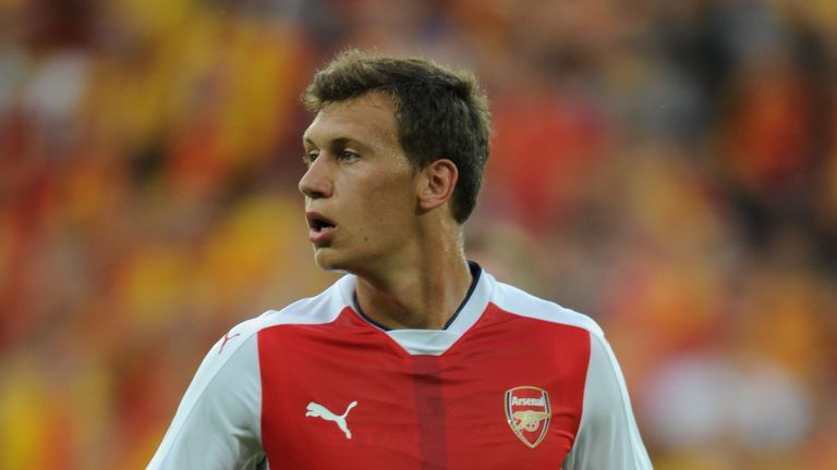 Krystian Bielik signed for Arsenal from Legia Warsaw in January 2015