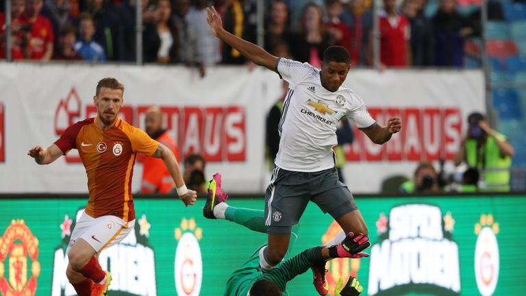 Marcus Rashford won Manchester United's penalty after coming off the bench